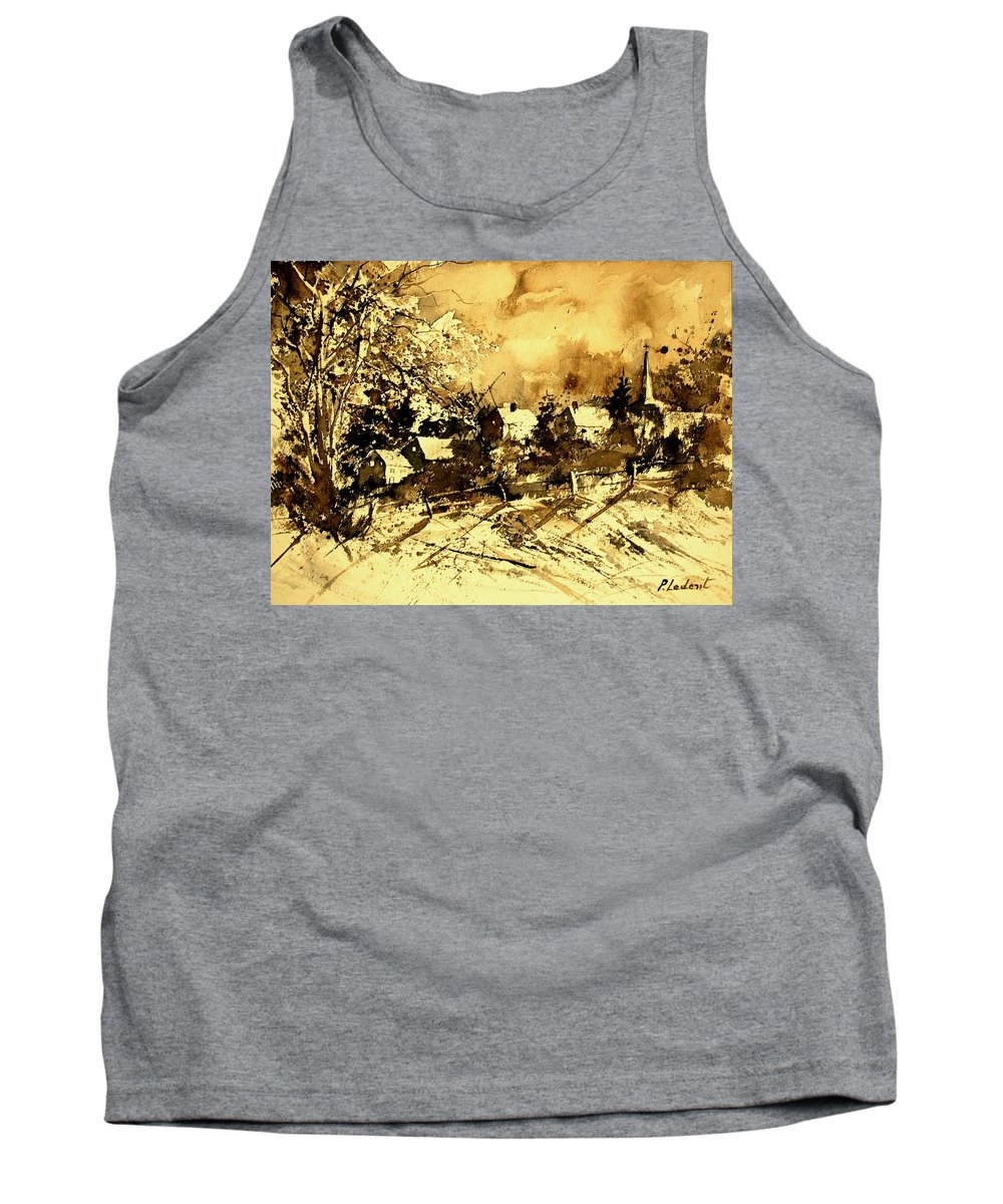 Tank Top featuring the painting Watercolor 01 by Pol Ledent