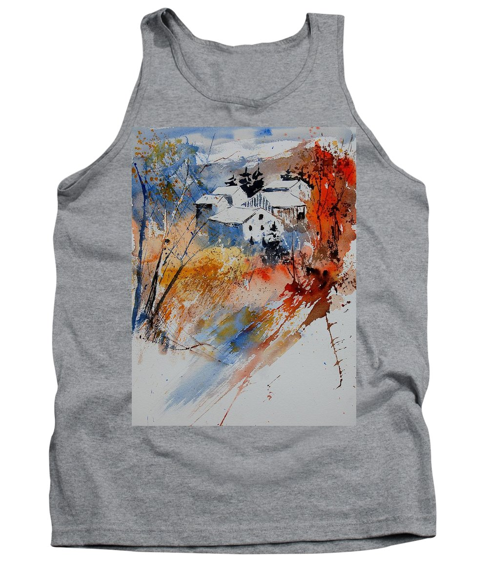 Landscape Tank Top featuring the painting Watercolor 011012 by Pol Ledent
