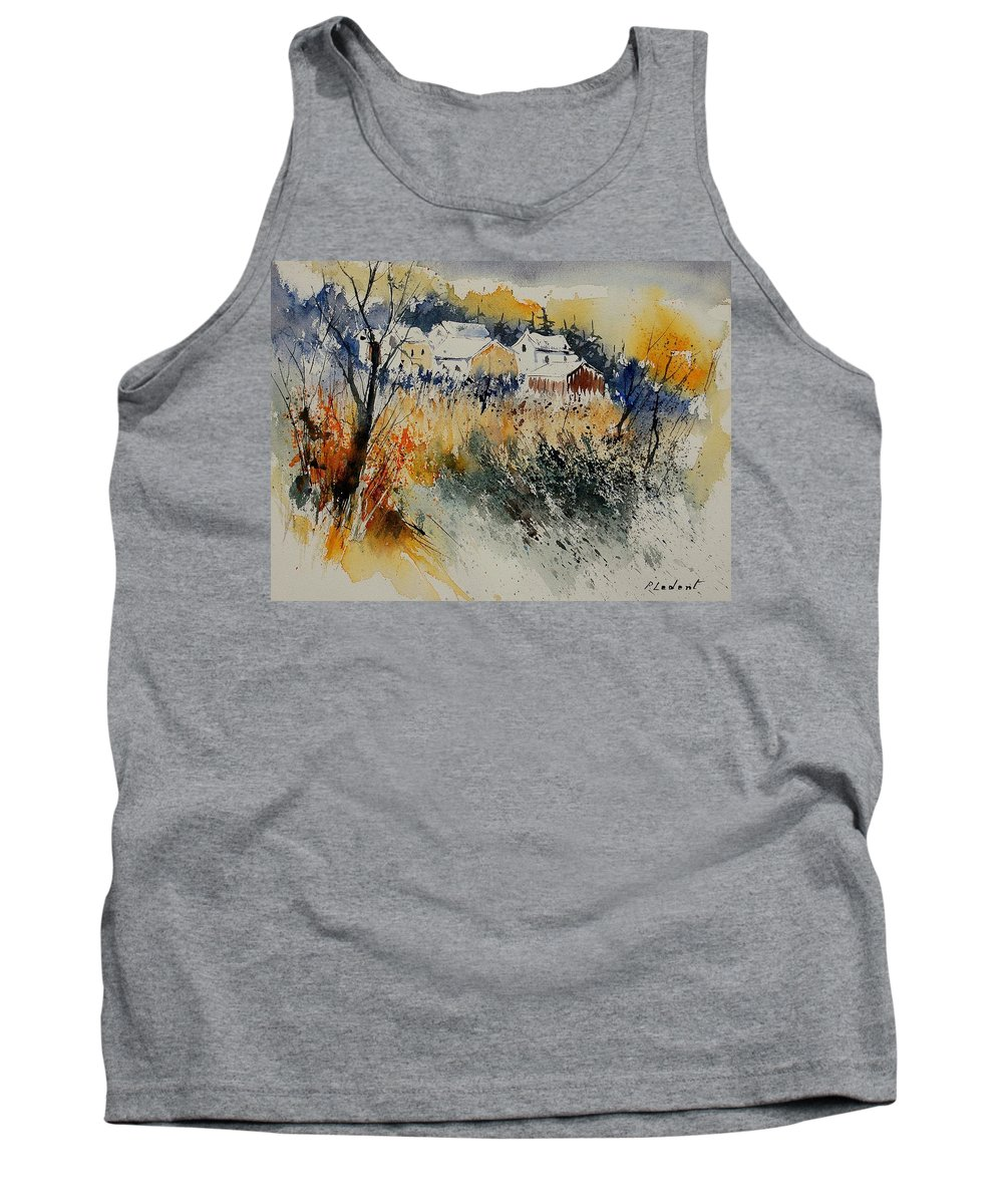 Landscape Tank Top featuring the painting Watercolor 011071 by Pol Ledent
