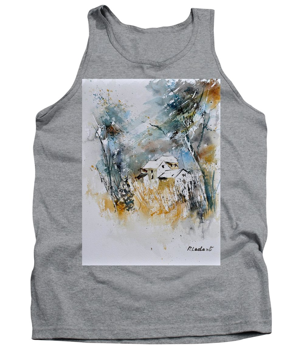 Landscape Tank Top featuring the painting Watercolor 015060 by Pol Ledent