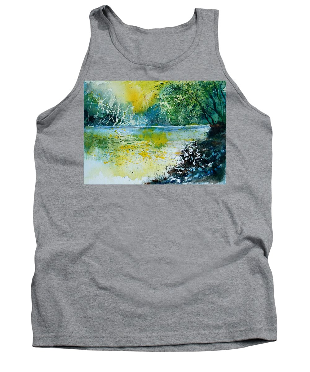 Pond Tank Top featuring the painting Watercolor 051108 by Pol Ledent