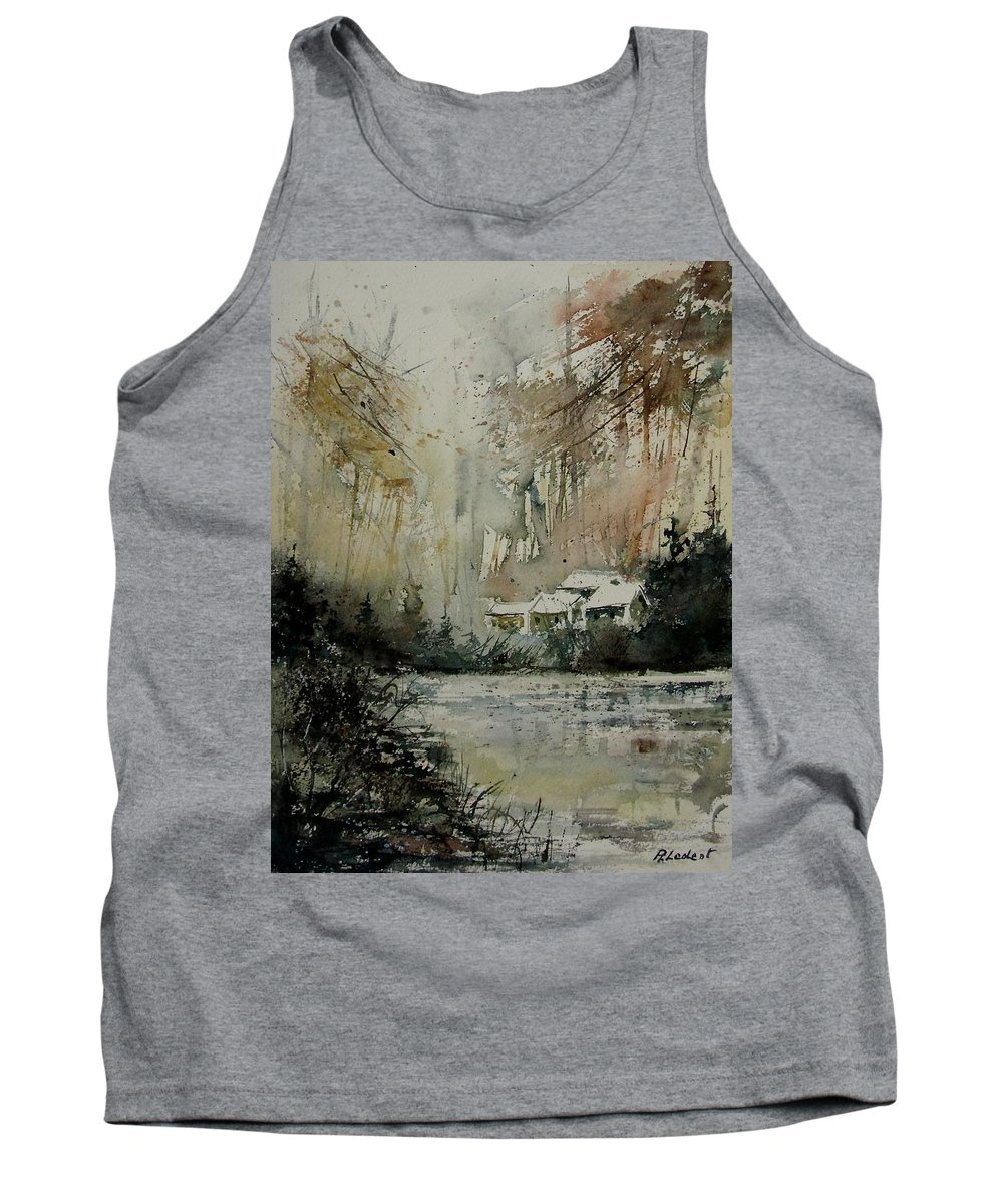 Landscape Tank Top featuring the painting Watercolor 070608 by Pol Ledent