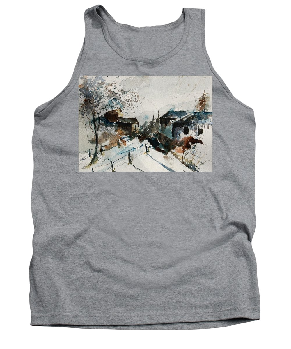 Winter Tank Top featuring the painting Watercolor 080707 by Pol Ledent