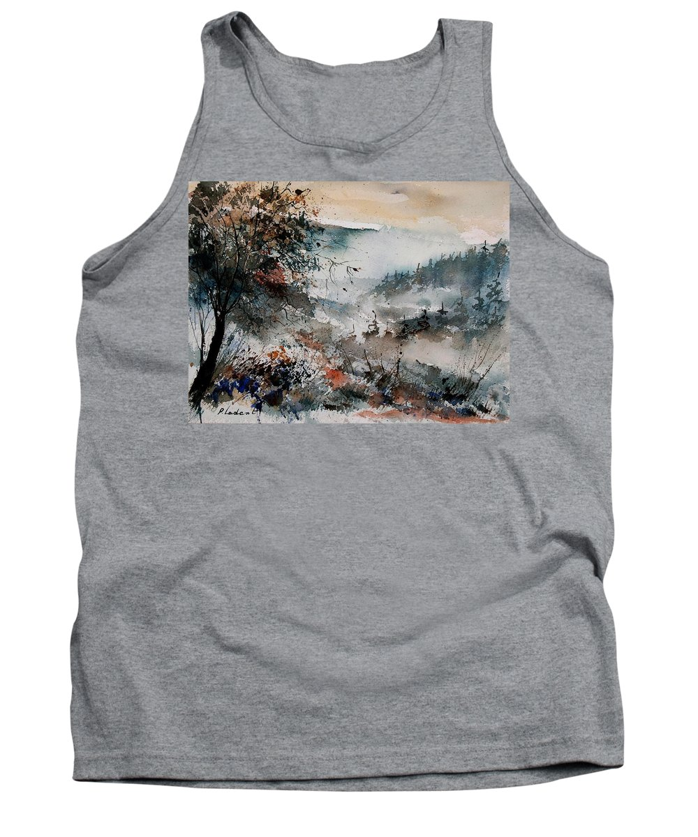 Winter Tank Top featuring the painting Watercolor 081108 by Pol Ledent