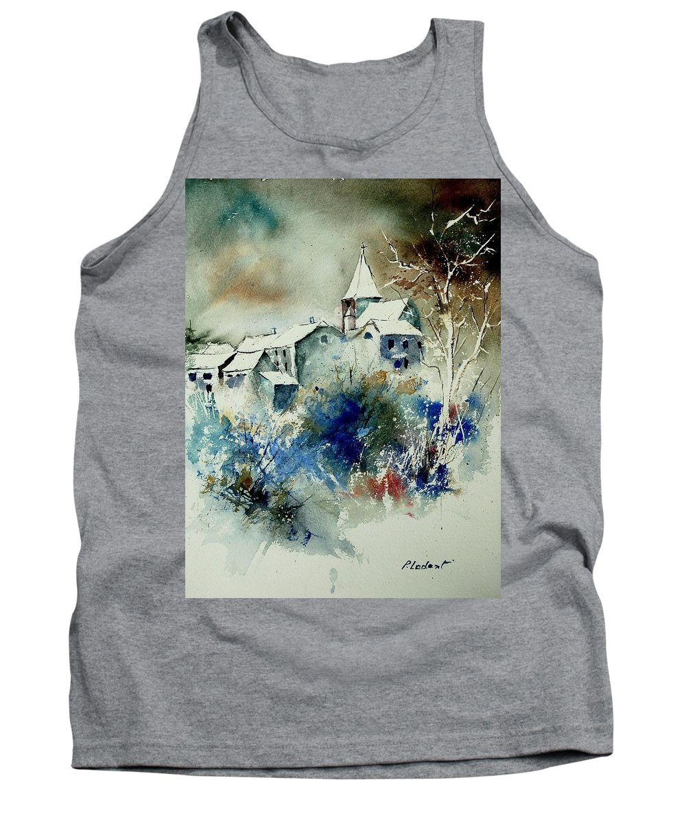 Winter Tank Top featuring the painting Watercolor 140408 by Pol Ledent