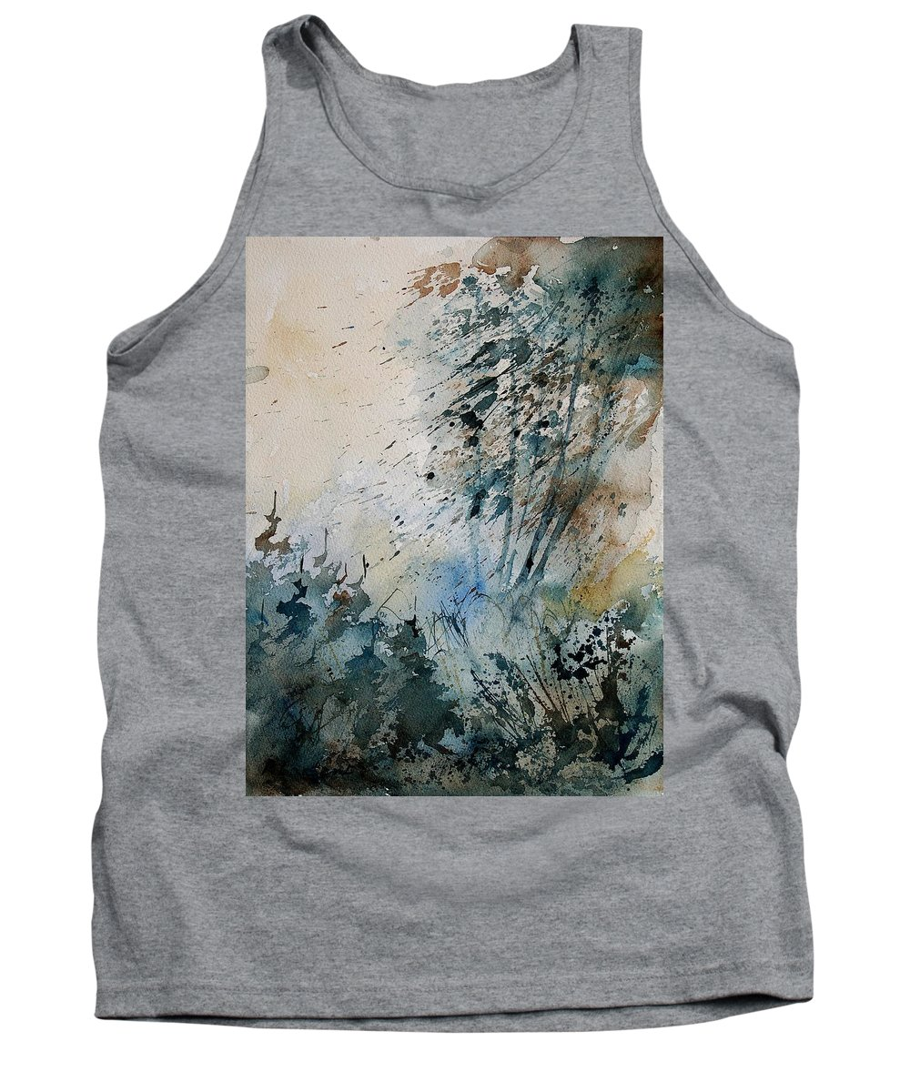 Tree Tank Top featuring the painting Watercolor 148708 by Pol Ledent