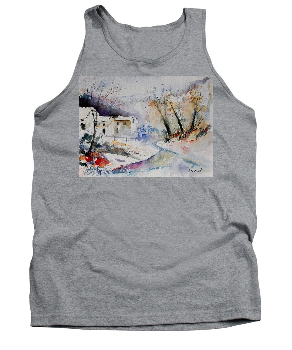 Village Tank Top featuring the painting Watercolor 15823 by Pol Ledent