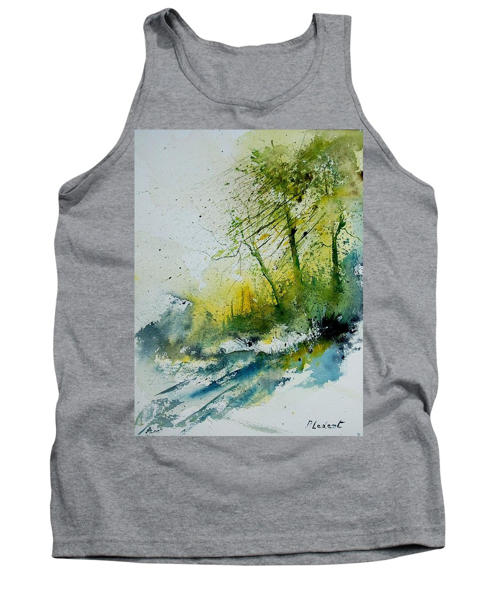 River Tank Top featuring the painting Watercolor 181207 by Pol Ledent