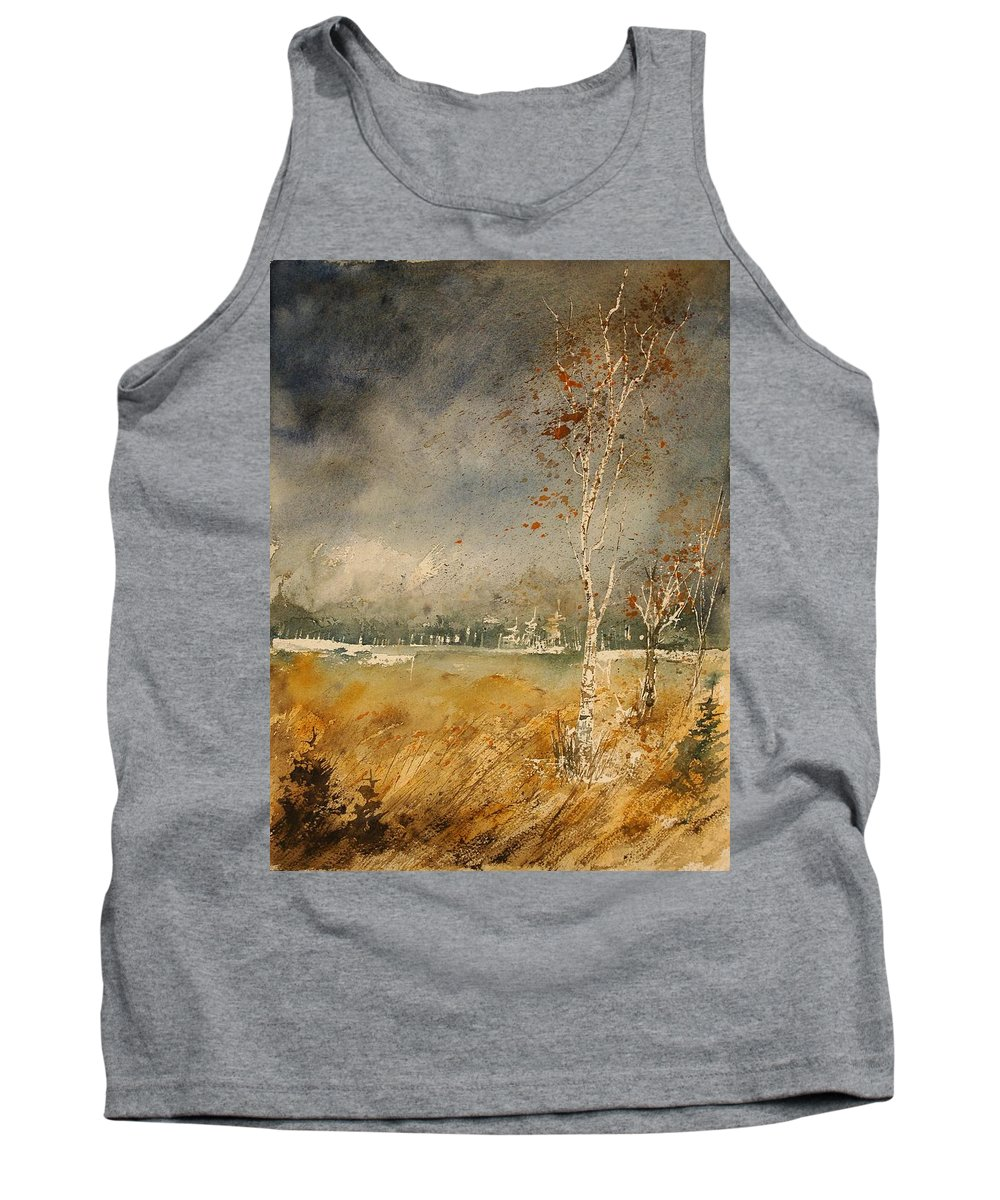 Tree Tank Top featuring the painting Watercolor 190307 by Pol Ledent
