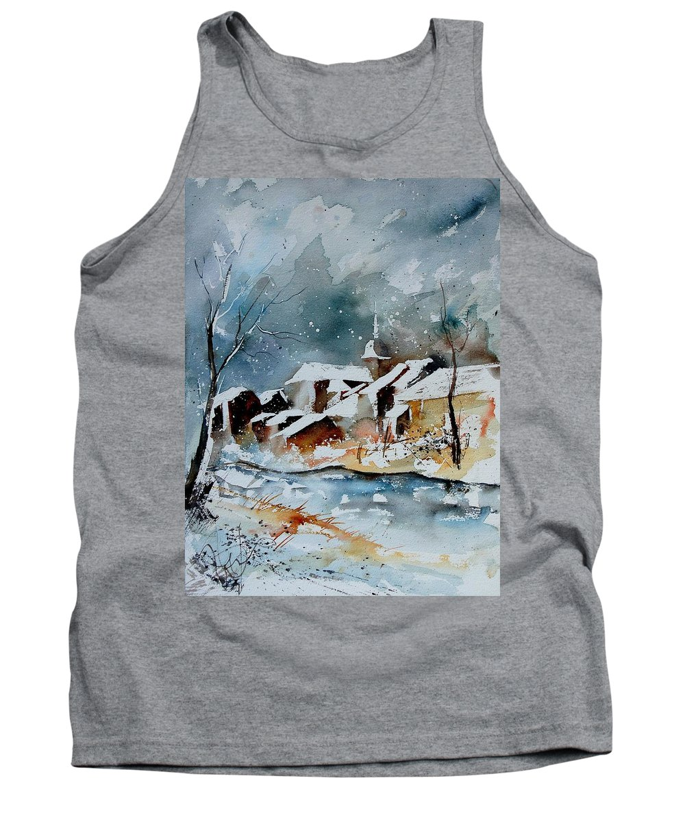 Winter Tank Top featuring the painting Watercolor 190607 by Pol Ledent