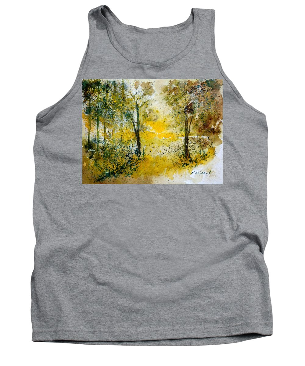 River Tank Top featuring the painting Watercolor 210108 by Pol Ledent
