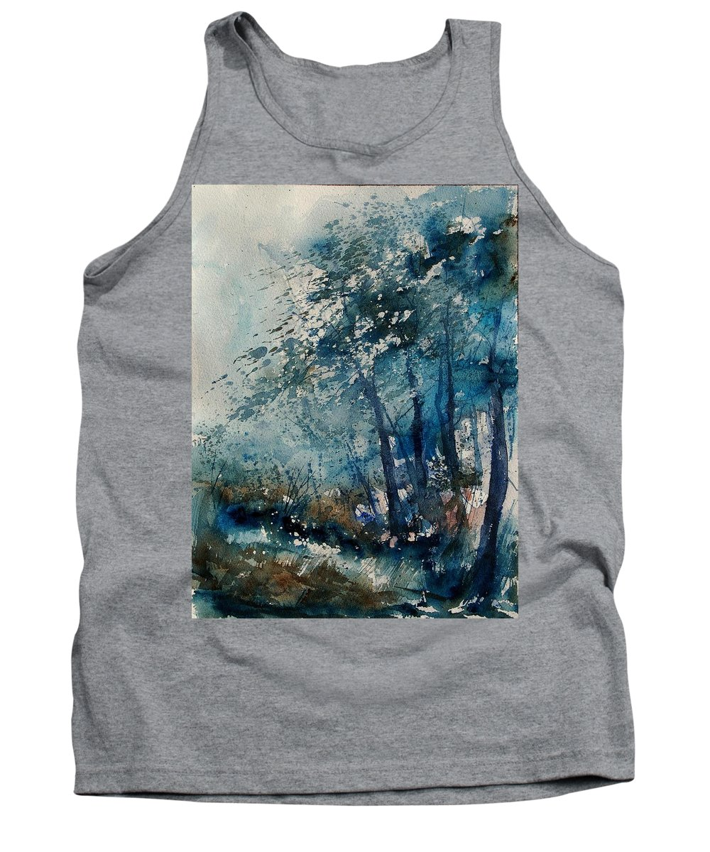 Winter Tank Top featuring the painting Watercolor 220907 by Pol Ledent