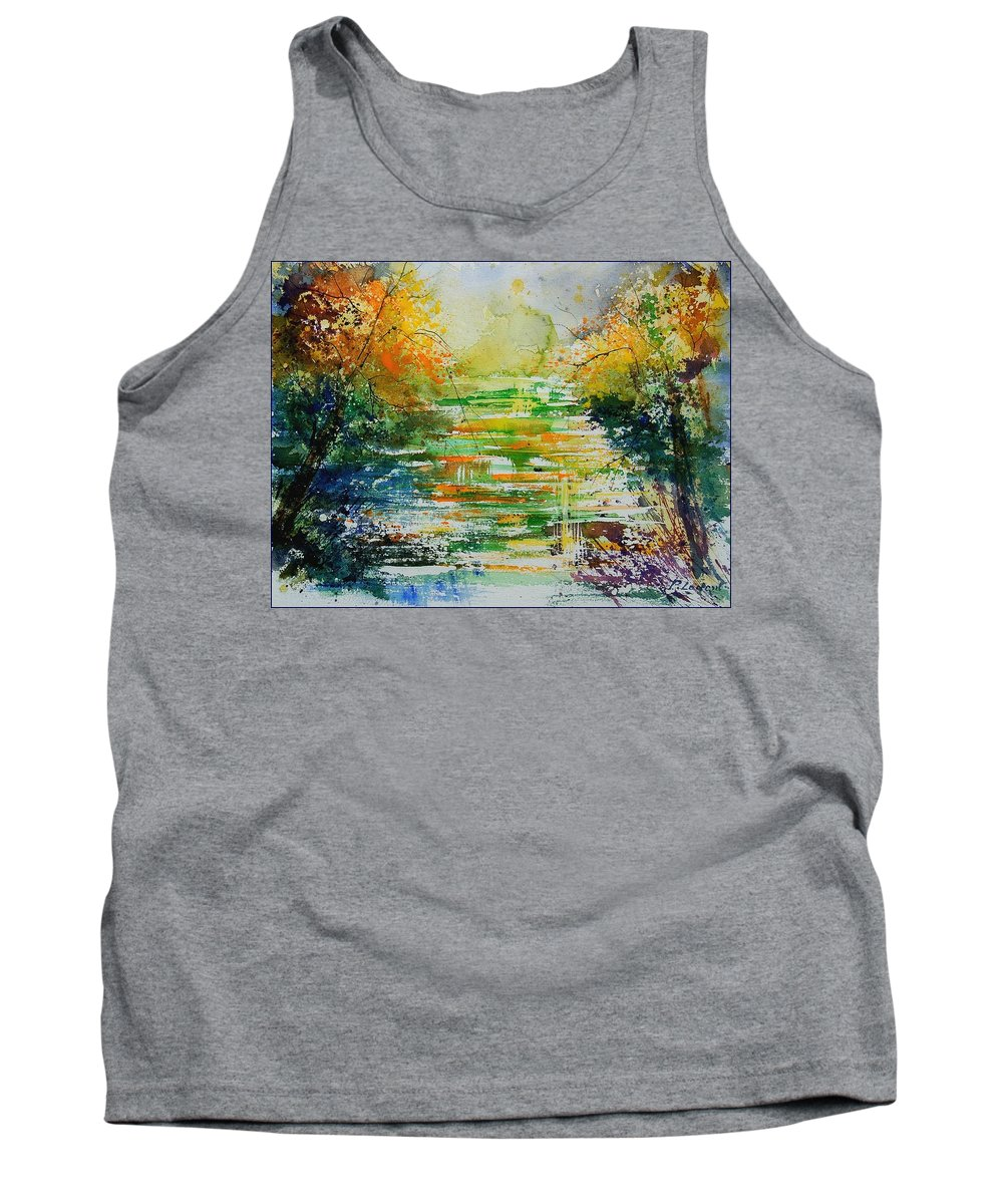 Water Tank Top featuring the painting Watercolor 230507 by Pol Ledent