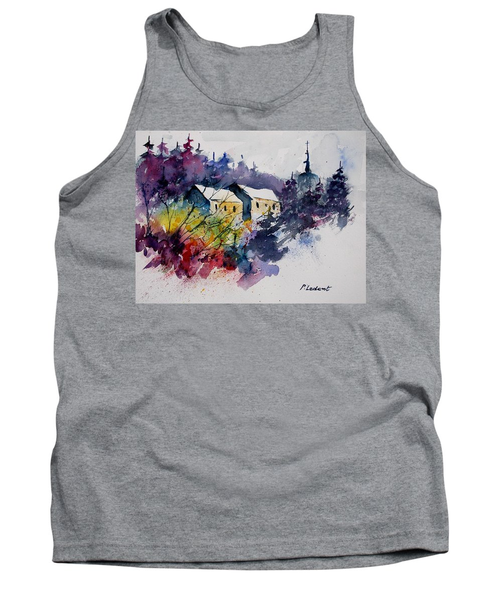 River Tank Top featuring the painting Watercolor 231207 by Pol Ledent