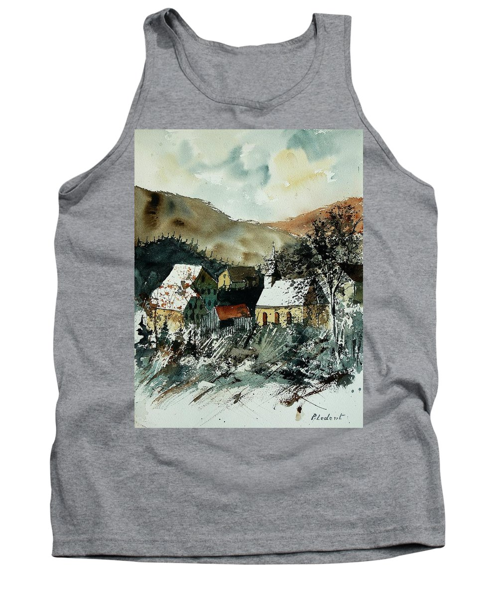 Winter Tank Top featuring the painting Watercolor 260107 by Pol Ledent