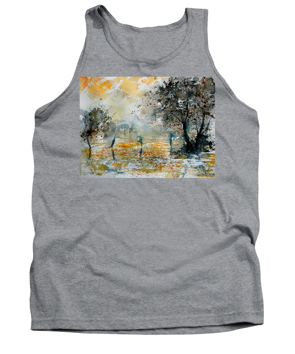Water Tank Top featuring the painting Watercolor 261006 by Pol Ledent