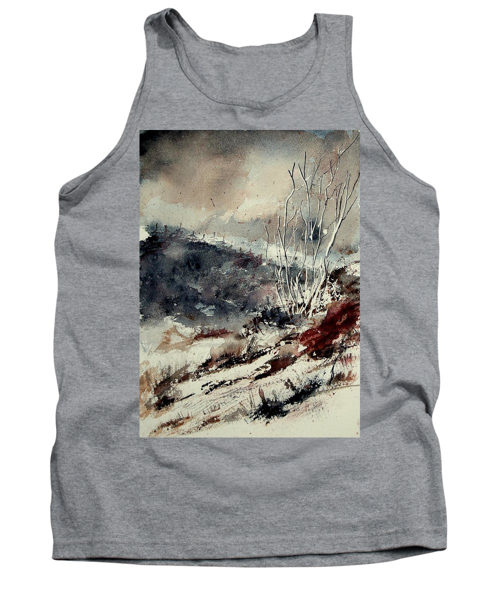 Winter Tank Top featuring the painting Watercolor 281207 by Pol Ledent