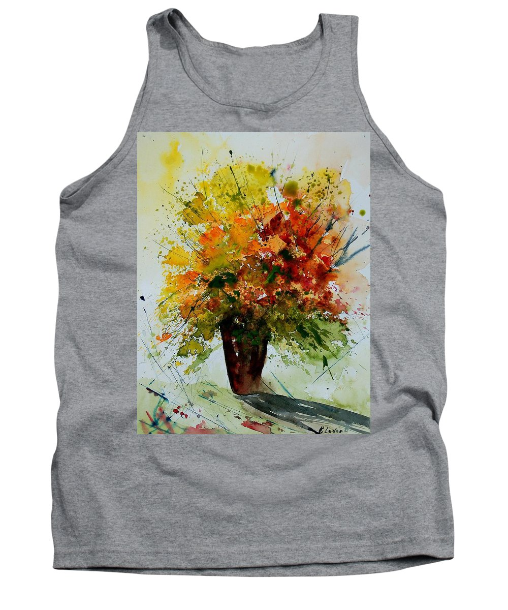 Flowers Tank Top featuring the painting Watercolor 290806 by Pol Ledent