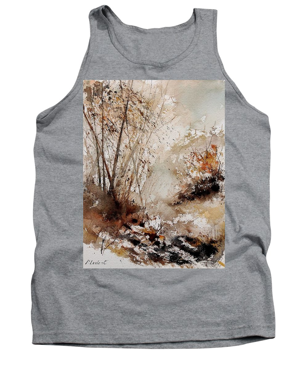 Tree Tank Top featuring the painting Watercolor 290808 by Pol Ledent