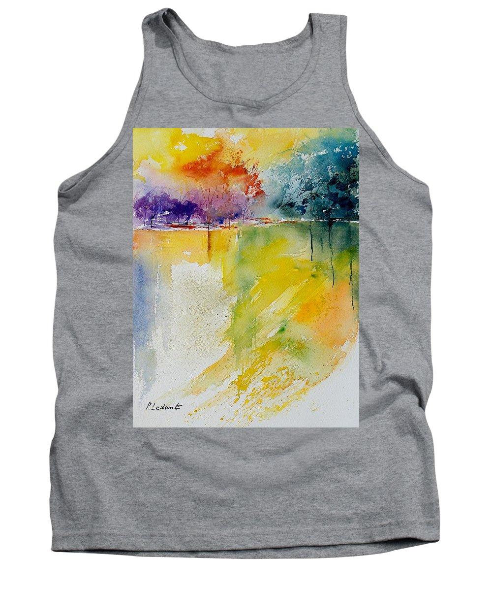 Pond Tank Top featuring the painting Watercolor 800142 by Pol Ledent
