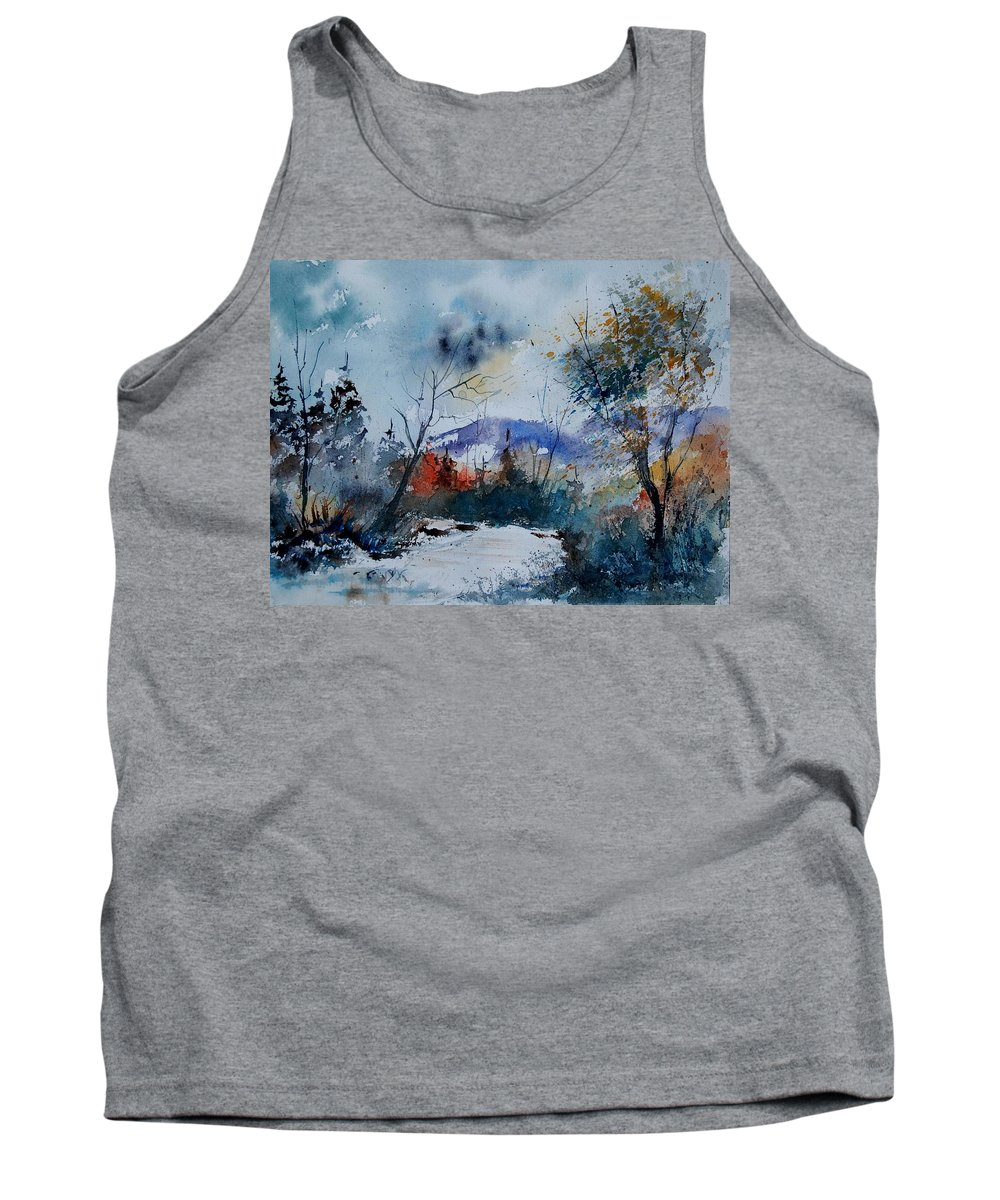 Landscape Tank Top featuring the painting Watercolor 802120 by Pol Ledent