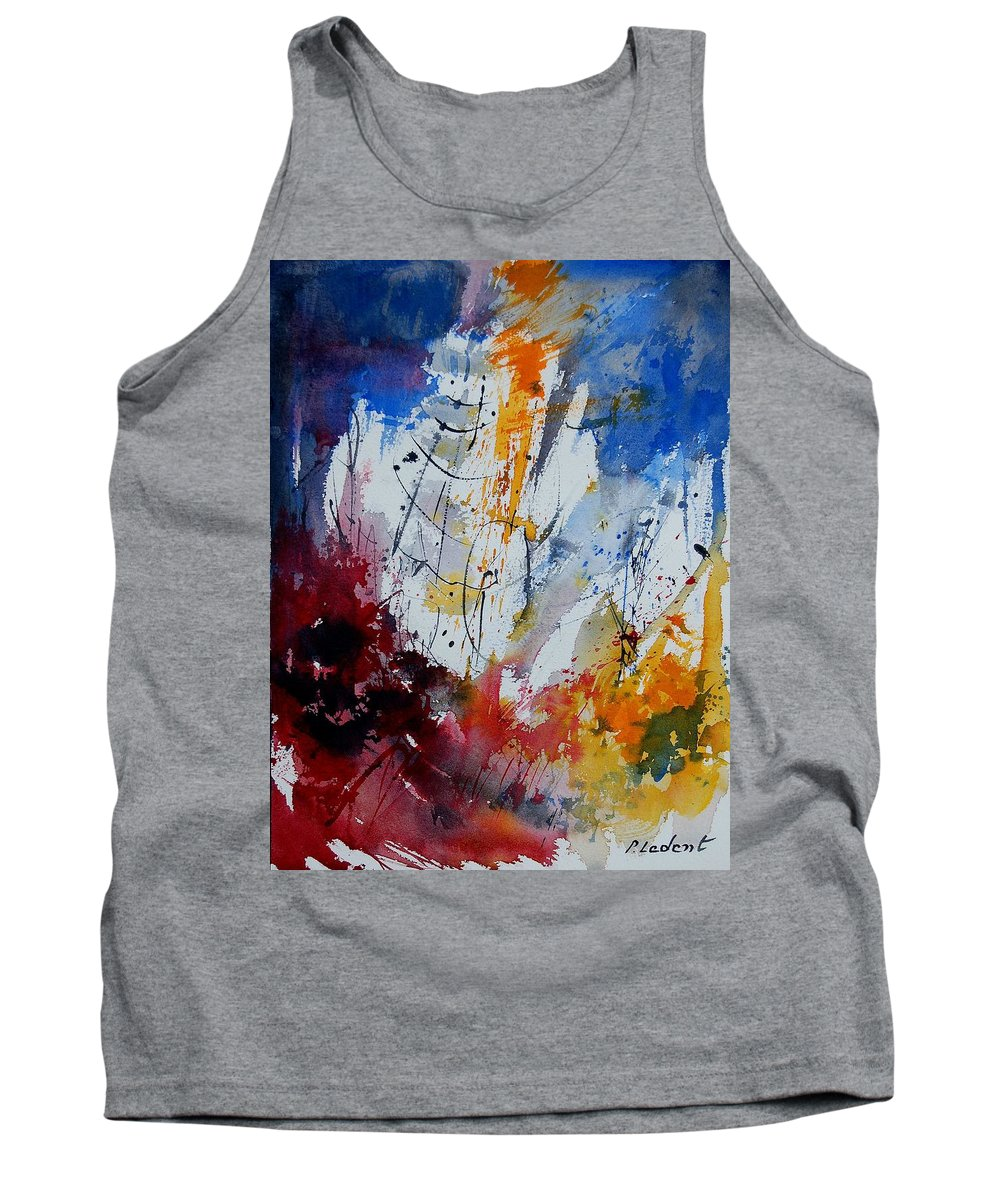Abstract Tank Top featuring the painting Watercolor 901120 by Pol Ledent