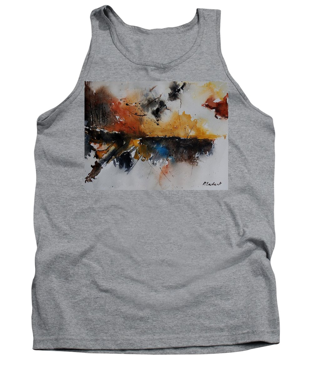 Abstract Tank Top featuring the painting Watercolor 901150 by Pol Ledent