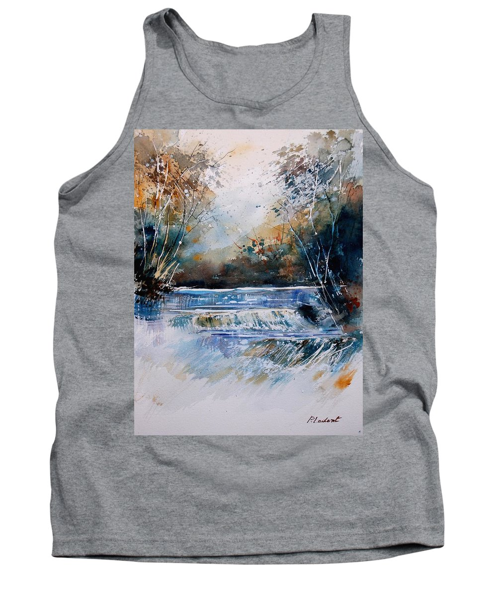 Water Tank Top featuring the painting Watercolor 902021 by Pol Ledent