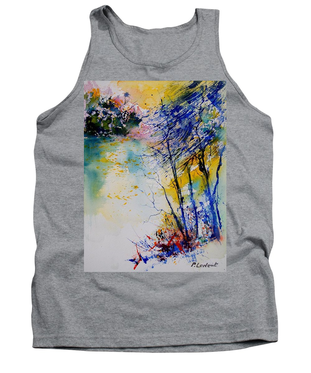 Water Tank Top featuring the painting Watercolor 902081 by Pol Ledent