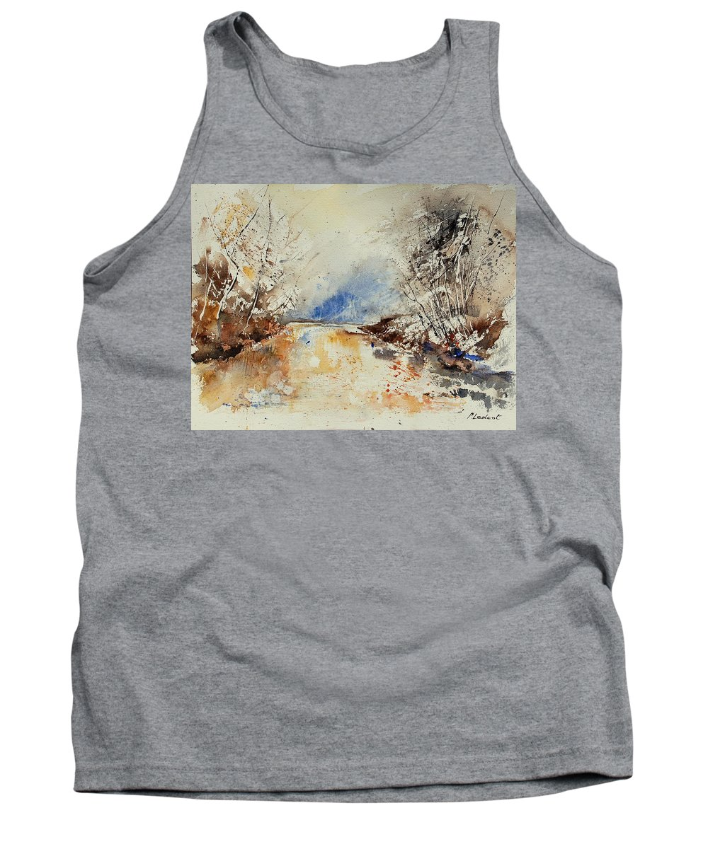 Water Tank Top featuring the painting Watercolor 903002 by Pol Ledent