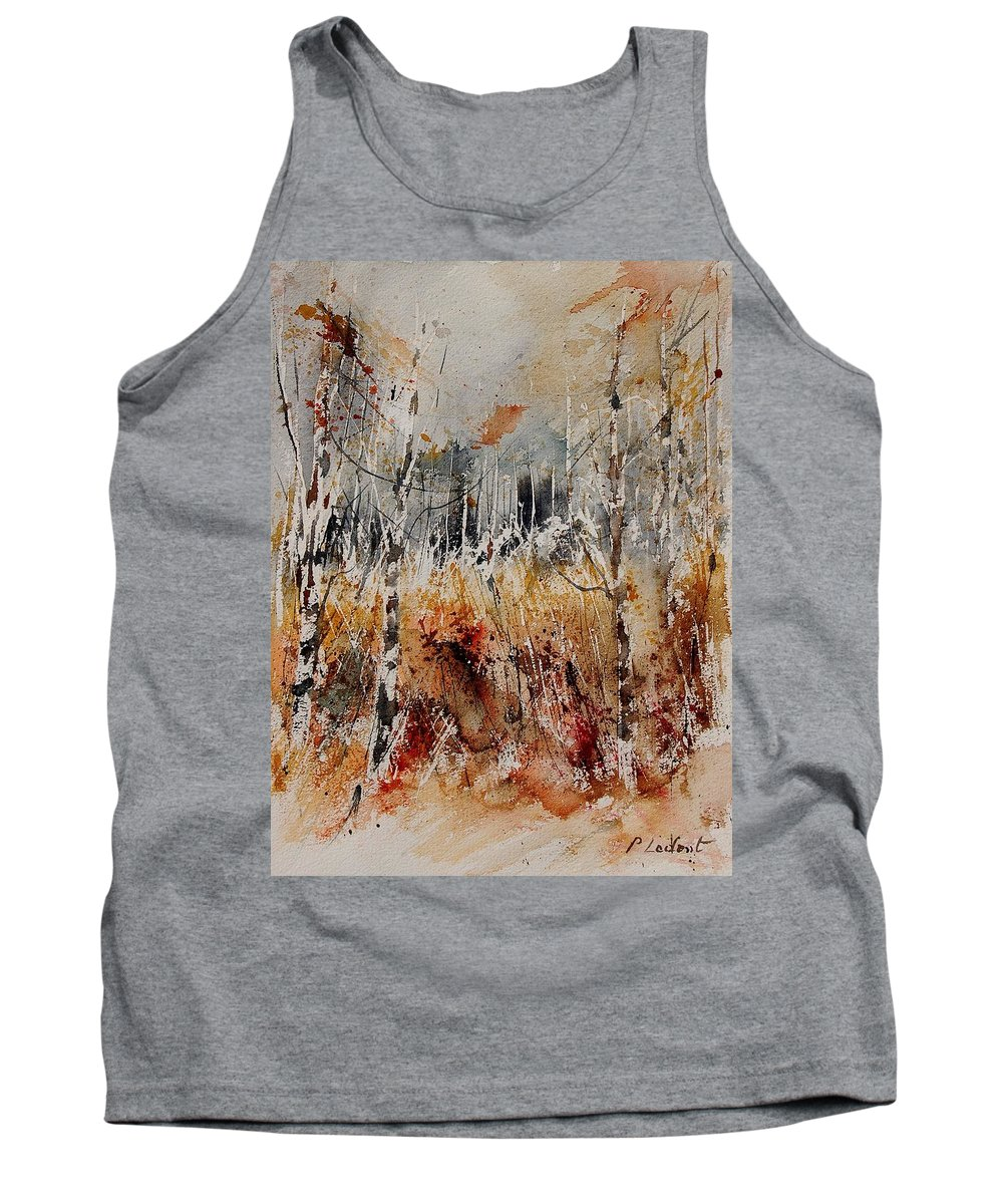 Tree Tank Top featuring the painting Watercolor 904012 by Pol Ledent