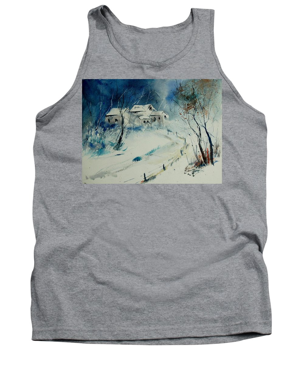 Winter Tank Top featuring the painting Watercolor 905001 by Pol Ledent