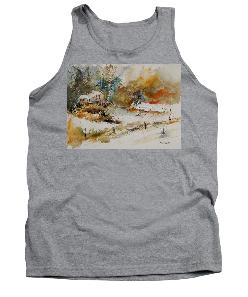 Tree Tank Top featuring the painting Watercolor 905061 by Pol Ledent