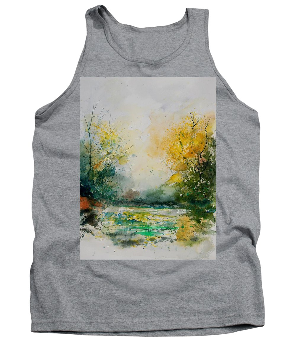 Water Tank Top featuring the painting Watercolor 905081 by Pol Ledent