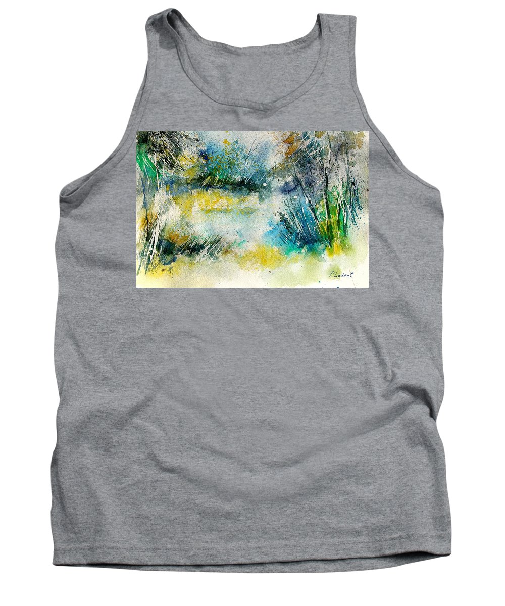 Water Tank Top featuring the painting Watercolor 906020 by Pol Ledent