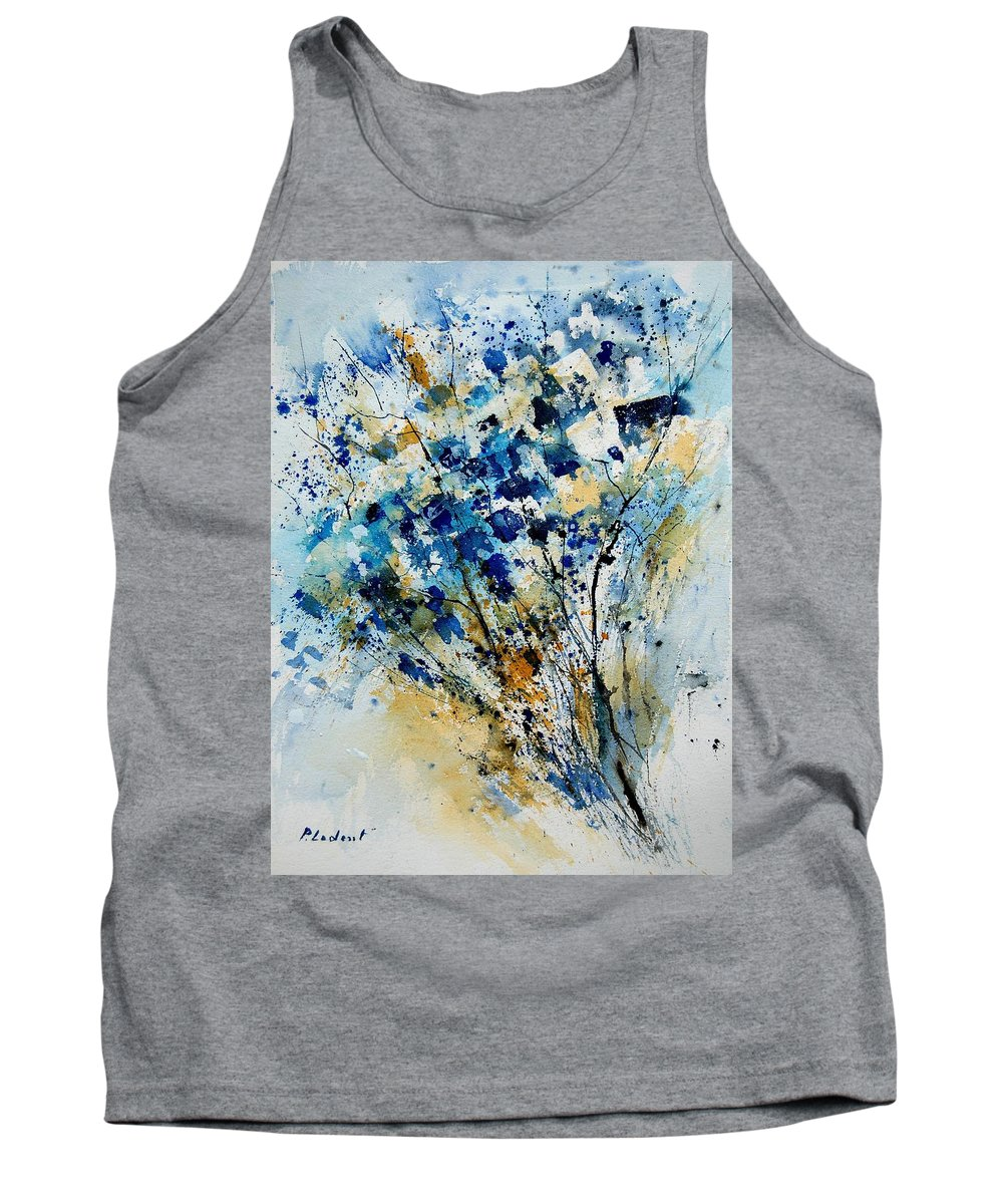 Flowers Tank Top featuring the painting Watercolor 907003 by Pol Ledent