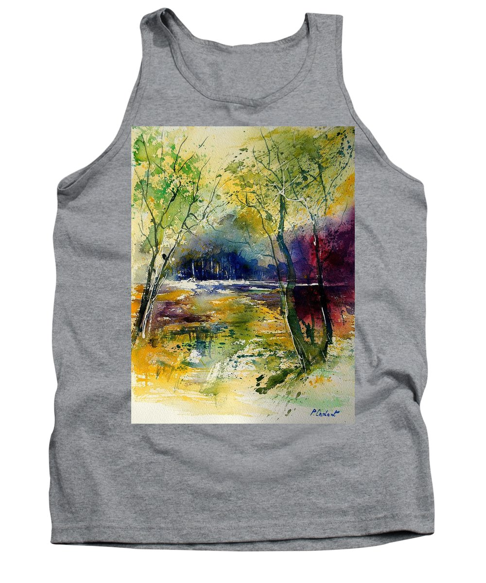 River Tank Top featuring the painting Watercolor 908010 by Pol Ledent