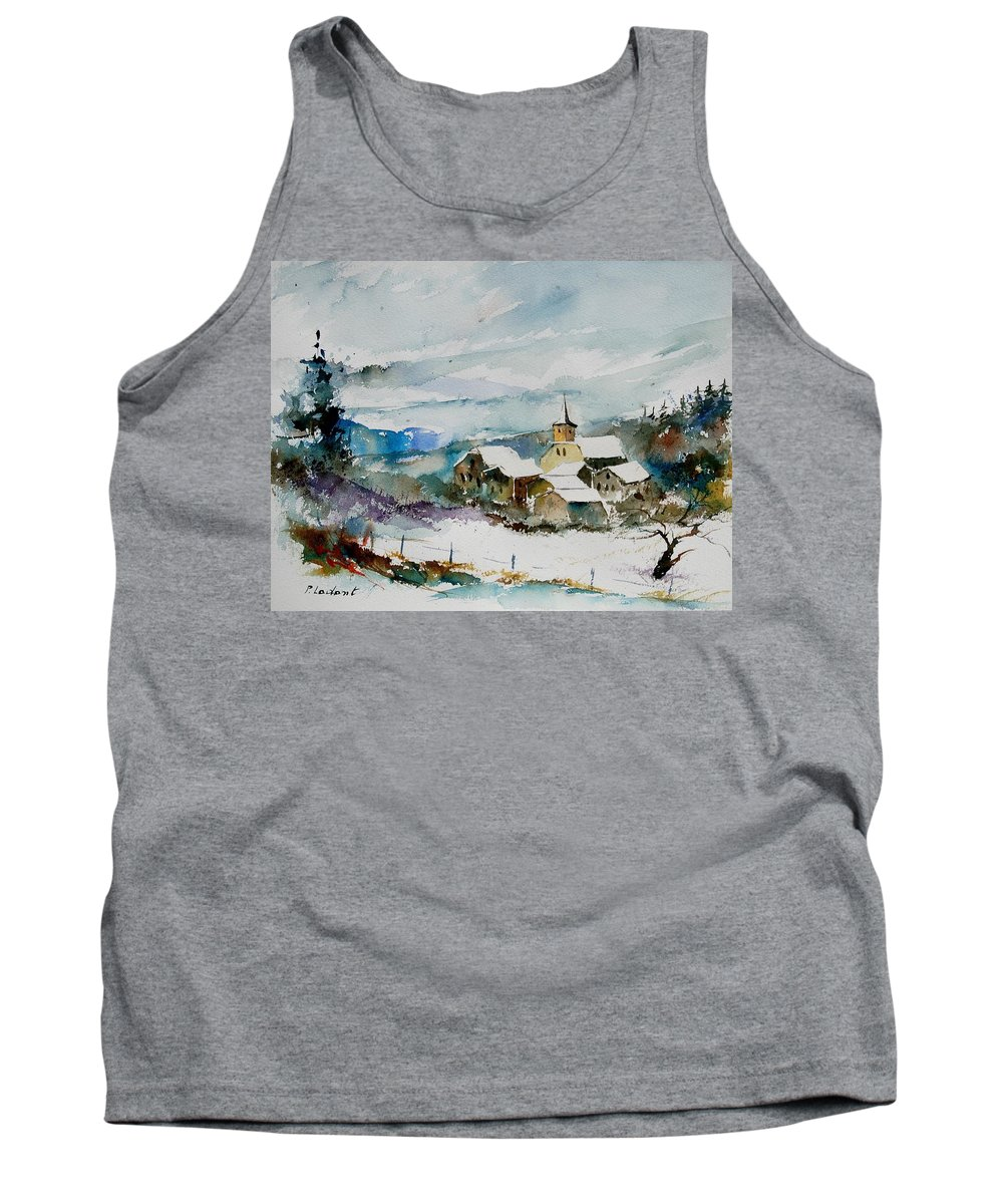 Winter Tank Top featuring the painting Watercolor 908011 by Pol Ledent