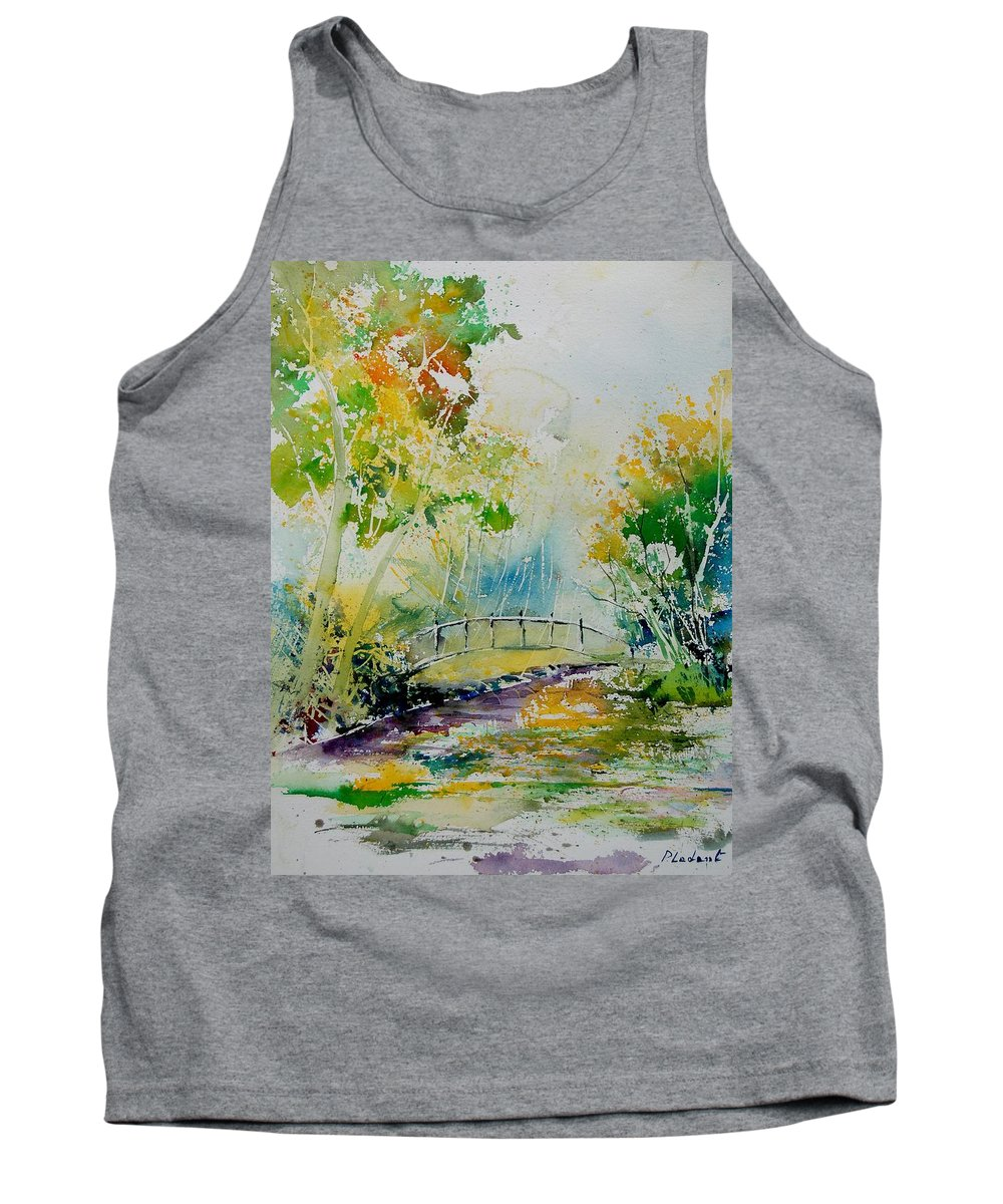 Water Tank Top featuring the painting Watercolor 908020 by Pol Ledent