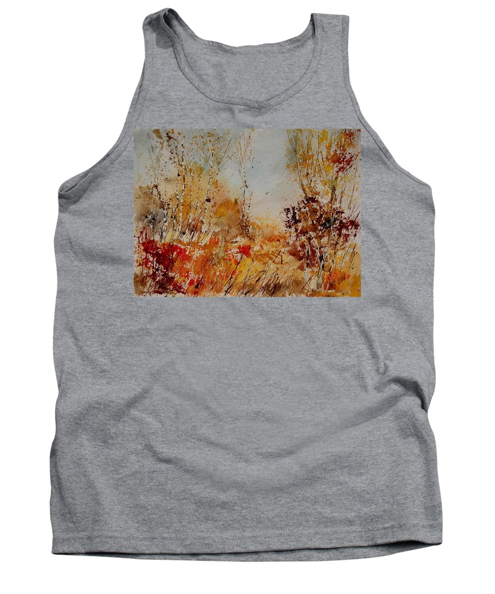 Tree Tank Top featuring the painting Watercolor 908031 by Pol Ledent