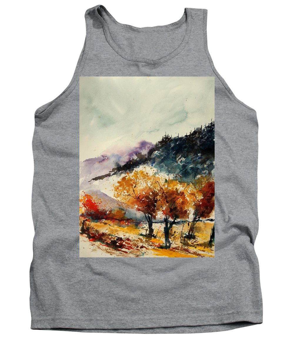 Tree Tank Top featuring the painting Watercolor 908041 by Pol Ledent