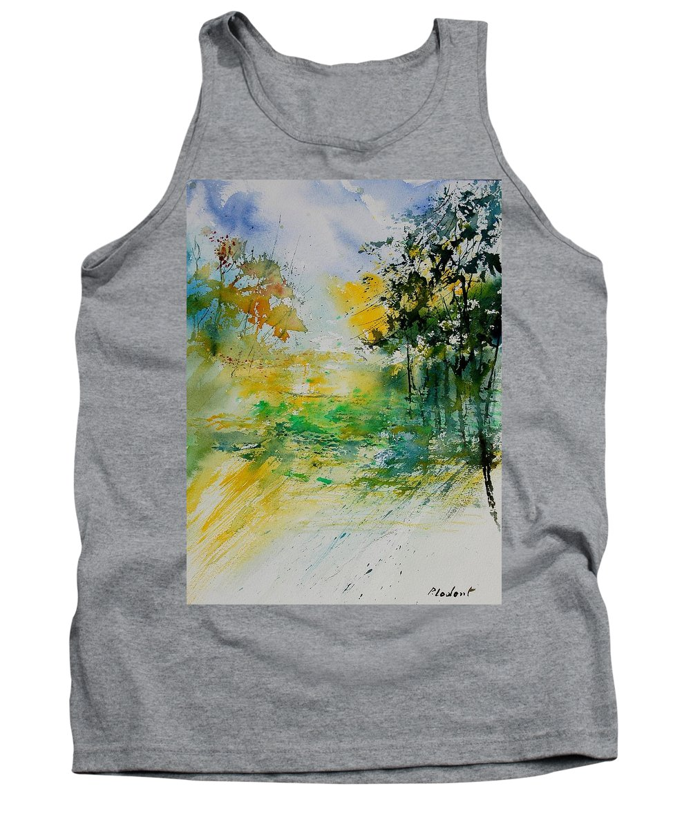 Water Tank Top featuring the painting Watercolor 908051 by Pol Ledent