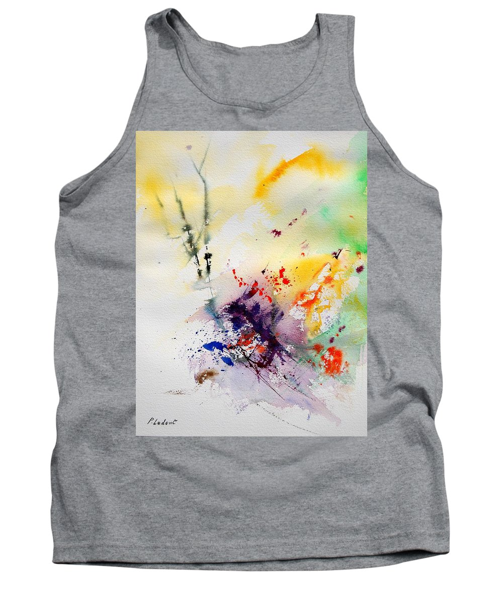 Abstract Tank Top featuring the painting Watercolor 908090 by Pol Ledent