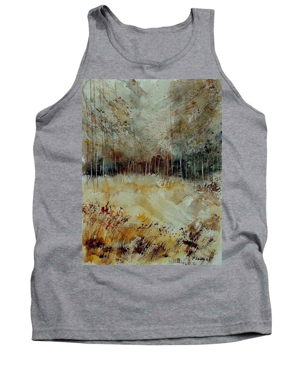 Tree Tank Top featuring the painting Watercolor 9090722 by Pol Ledent