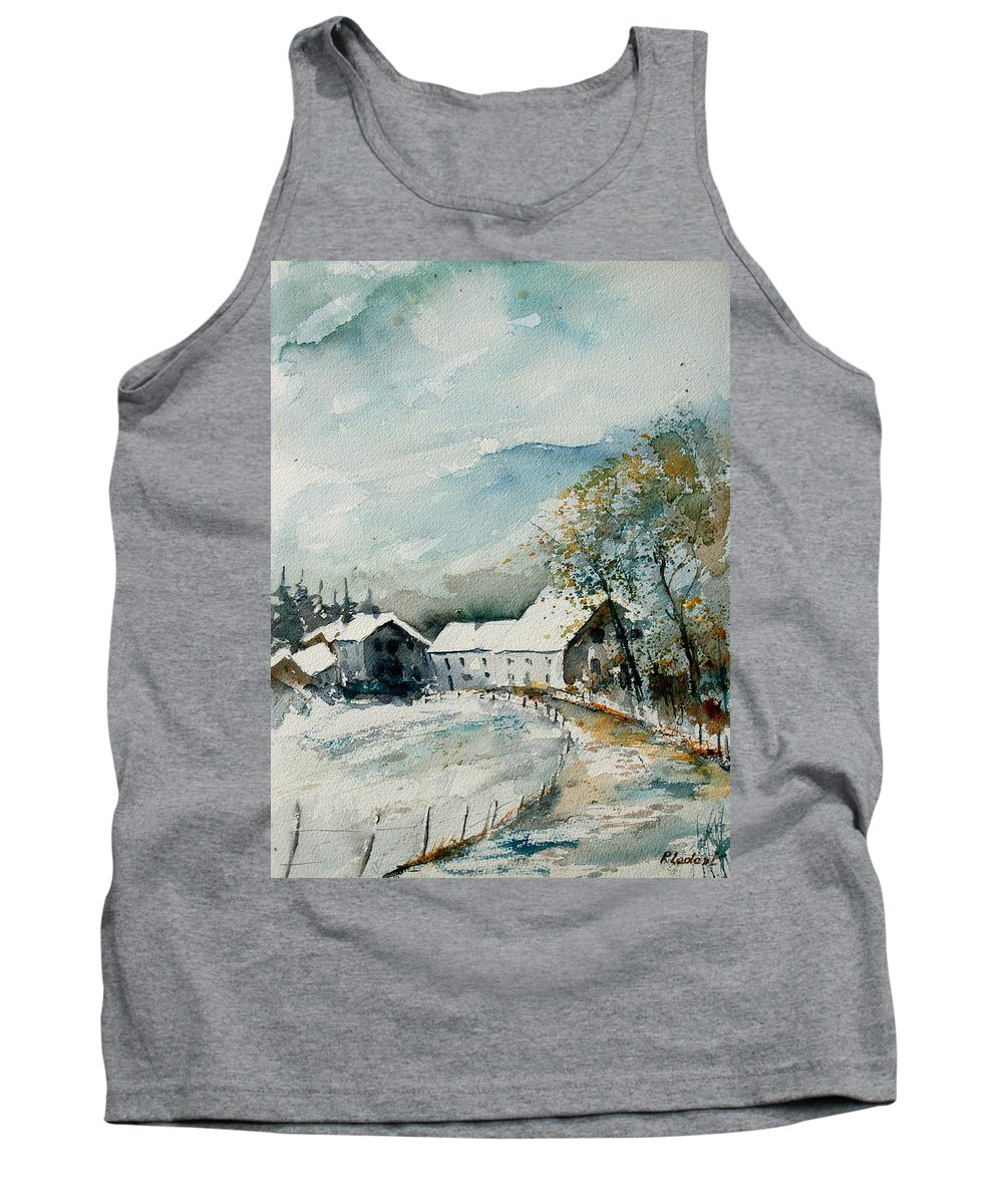 River Tank Top featuring the painting Watercolor Sechery 1207 by Pol Ledent