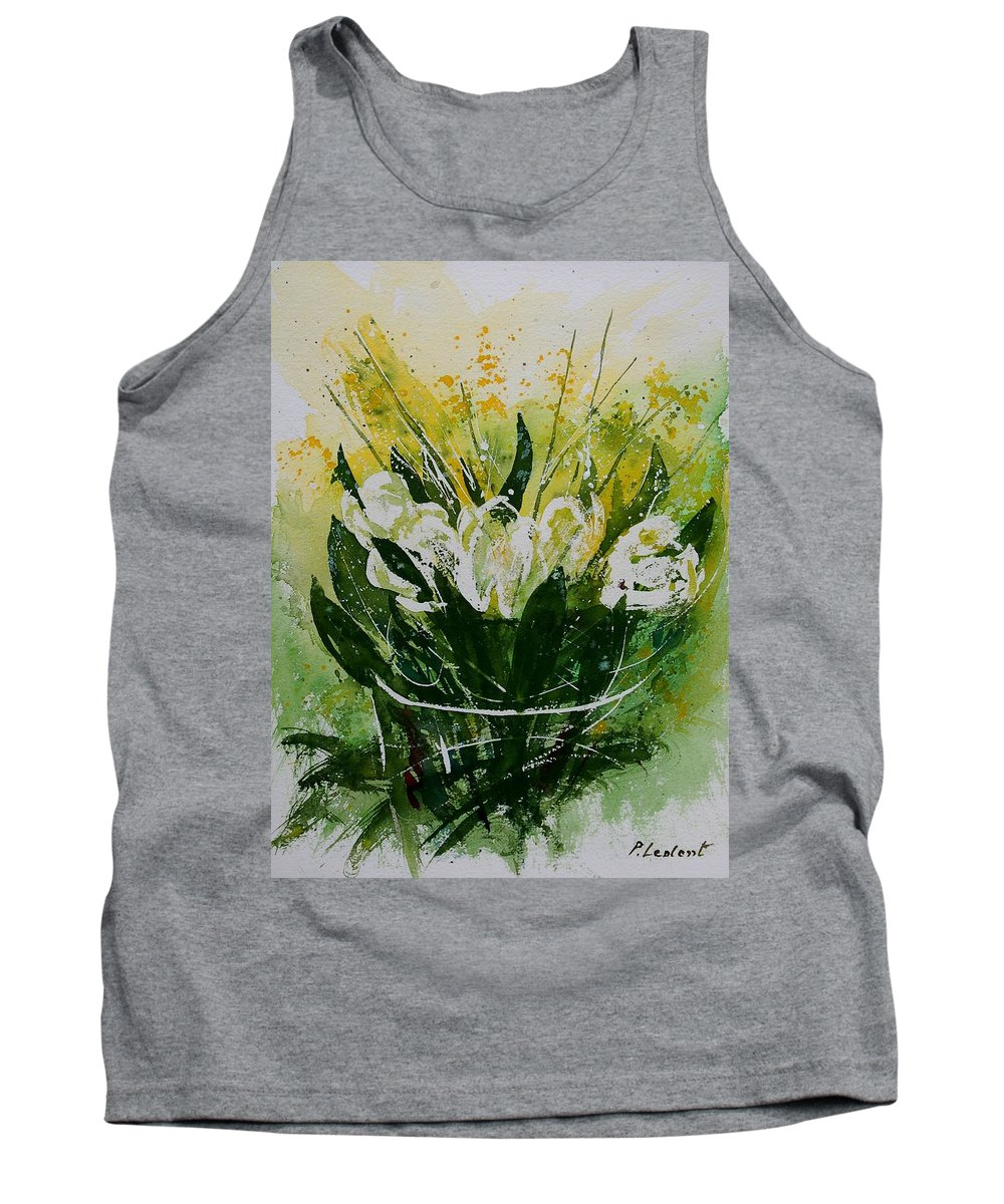 Flowers Tank Top featuring the painting Watercolor Tulips by Pol Ledent