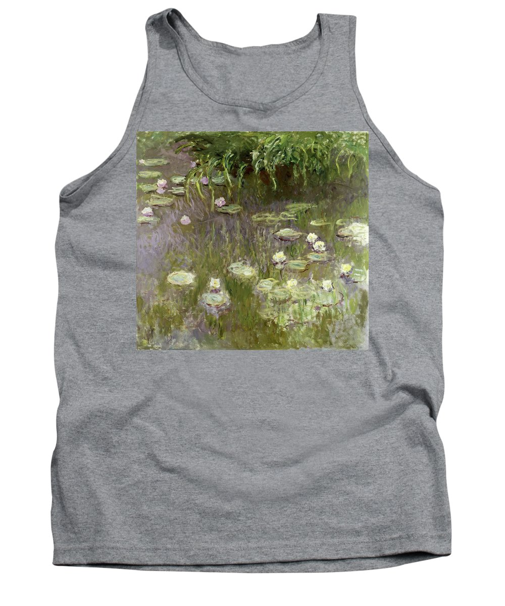 Waterlilies At Midday Tank Top featuring the painting Waterlilies At Midday by Claude Monet