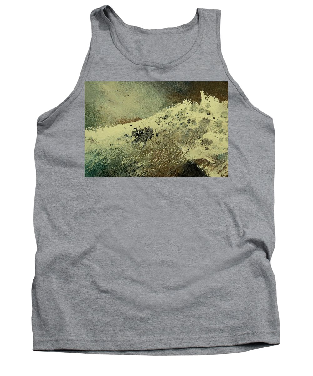 Sea Tank Top featuring the painting Wave by Pol Ledent