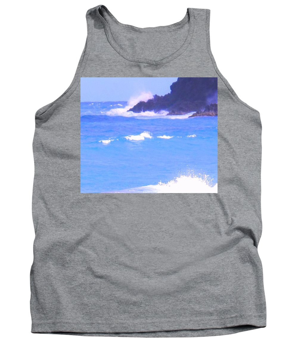 Ocean Tank Top featuring the photograph Waves Crashing by Ian MacDonald
