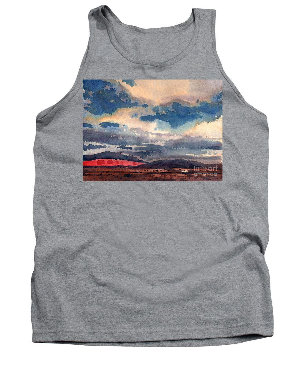 Highway Tank Top featuring the painting Way West by Donald Maier